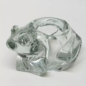Indiana Glass Crystal Frog Votive/Paperweight